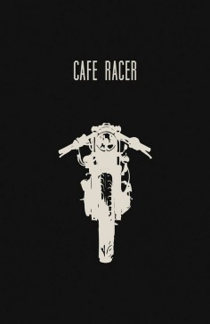 Cafe Racer Motorcycle Poster by InkedIron #caferacer