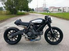 Cafed Scrambler Ducati by EasternBobber