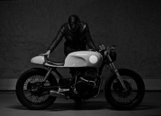 capitalwheels:  Great shot by Eldar I'm and Honda GB400TT