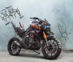 Chappie Inspired Triumph Tiger Explorer, I love Die Antwoord, love Chappie, and this bike!