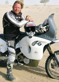 Charley Boorman. Motorcycle adventurer