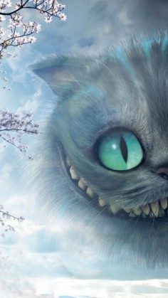 CHESHIRE CAT, IPHONE WALLPAPER BACKGROUND