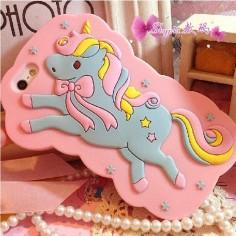 China Fantasy Animals Unicorn Cartoon Silicone Case for iPhone 5 5s - China Cute Horse, Unicorn