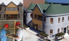 Chinese company unveils a two-storey house printed by a 3-D machine in one go | Daily Mail Online