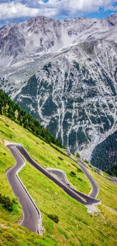 Cinematic Road Passo Dello Stelvio, Italia #paths