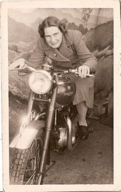 Classic motorcycle chick