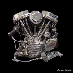 Classic/Iconic Harley Davidson Panhead Chopper Motorcycle Engine (photo credit: Gordon Calder)