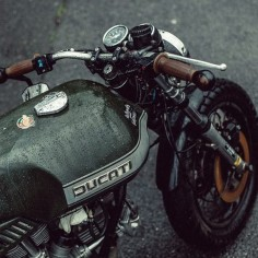 Coffee and Cigarettes #ducati #bratstyle #motorcycles |