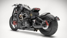 Confederate G2 P51 Fighter Combat motorcycle in black
