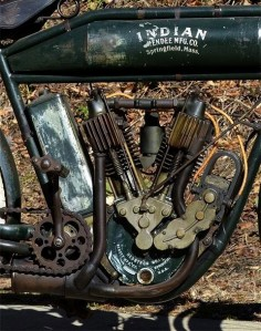 Cool picture of an old Indian Motorcycle engine