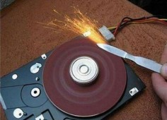 Coolest Use Of Old Hard Drive sander