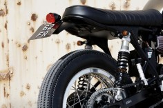 CRD's Triumph Scrambler - dig the looped tail.  Well done.