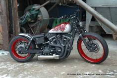 Custom Harley-Davidson Dyna Street Bob build, VOODOO BOB | Rocket Bobs