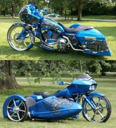 Custom Harley Davidson Road Glide w/ side car