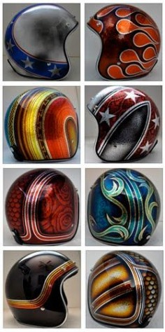 Custom painted 3/4 helmets