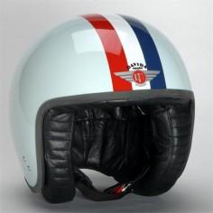 Davida Helmet Jet Target Blue White Blue | Infinity Motorcycles