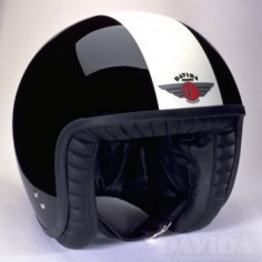 Davida jet Helmets:  two tone Black,White  Product Code: 80221