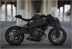 Deze motorfiets heet de Ronin 47. Het is een omgebouwde en aangepaste motorfiets. Ik hou zelf heel erg van motorfietsen en daarnaast ook van aangepaste motorfietsen. Ik zie dit zelf als een vorm van kunst omdat de maker een product neemt, uit elkaar haalt, en er vervolgens iets totaal nieuws van maakt.