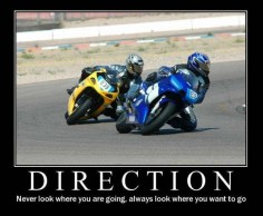 Direction // look left, turn left; look right, turn right. I still find myself thinking this every time I take the bike out!