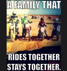 ♥ dirt bike family