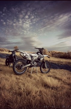 dirt bike in the field