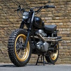 Dirt Is Good: A custom Kawasaki W650 by Urban Rider of London.