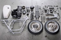 disassembled moto