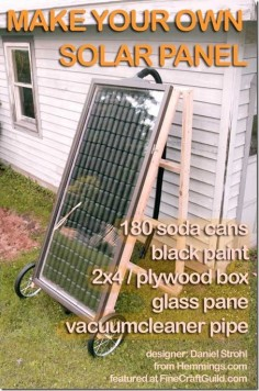diy solar panel heating