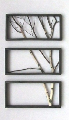 DIY wall art. I love this so simple and beautiful