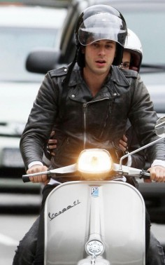 DJ/record producer/recording artist Mark Ronson rides a GL in the streets of New York with his sister Samantha in tow.