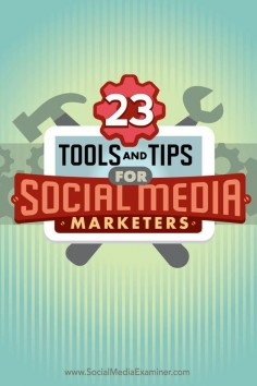Do you need to streamline your daily social media tasks?  The right apps can make a world of difference in the life of a busy social media marketer.  In this article youll discover 23 of the top tools and tips shared on the Social Media Marketing podcast