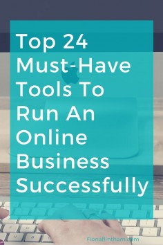 Do you secretly wish that running your business wasn't   When you're running an online business there is no excuse for being unorganised. There are thousands of tools to help you gain control of your virtual business and life.  But isn't that half the problem? There are so many tools and you end up feeling overwhelmed.  Fortunately, it just got a whole lot easier:  Here are my top 24 must-have tools to run your online business smoothly.