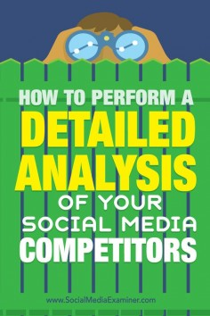 Do you want better results from social media?  If you're not getting the results you want from social media, a little research and the right tool can help you refine your social media strategy.  In this article, you'll discover how to perform a detailed competitive analysis and improve your social strategy. Via @Social Media Examiner
