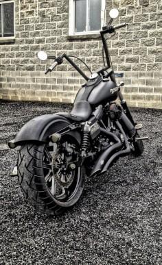 Don't tell mom, but Lisa F. just made the Harley-Davidson Naughty List.   #HDNaughtyList Harley Davidson Street Bob customized