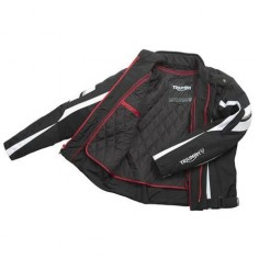 Drift Sport Motorcycle Jacket | Triumph Motorcycles | The Triumph Drift Jacket is a sportier textile jacket with AirFlow Tech ventilation and fixed water resistant membrane.