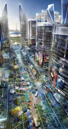 Dubai To Build The World's First Climate-Controlled City [Mall of the World, Sheikh Zayed Road, UAE, Futuristic City, Mohammed Bin Rashid, Futuristic Architecture]