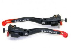 Duc Shop Tirol - DUCABIKE Satz voll einstellbare Brems- und Kupplungshebel klappbar mit verstellbaren Enden für die Ducati Monster 1200