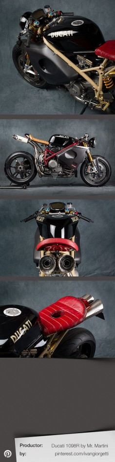 Ducati 1098R by Mr. Martini #custom #motorcycle #caferacer Holy balls, this bike is absurdly fantastic looking.