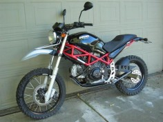 Ducati 695 converted to a dual sport!