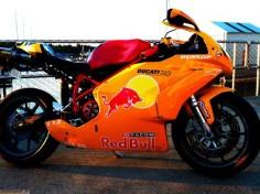 Ducati 999 Red Bull Orange