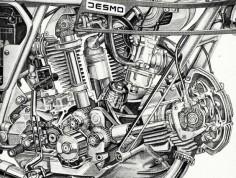 Ducati bevel drive Desmodromic