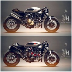 Ducati Cafe Racer Design 1098 Streetfighter by Holographic Hammer #motorcyclesdesign #diseñodemotos |