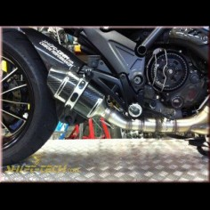 Ducati Diavel Stage 3 Slip-on GP Exhaust Kit by Shift-Tech, ST106