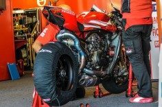 Ducati leaked this photo so you know the Superlegggggeereerrrrraaagh is nothing like the WSBK bike.