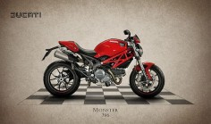 Ducati Monster 796 Print By Mark Rogan