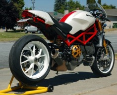 ducati monster s4rs custom | 2007 Ducati Monster S4RS White/Red -