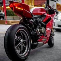 Ducati Panigale 1199.  I'm pretty sure this is the R model, given the exposed aluminum tank.