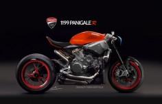 Ducati Panigale R Café Racer Concept - #caféracer #Ducati #Panigale