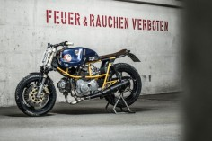Ducati Pantah 500 race bike built by Hermann Köpf of Craftrad magazine.