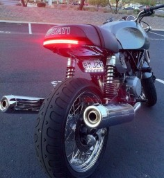 Ducati Sport Classic 1000 - Tron style rear light - interesting numberplate position too.